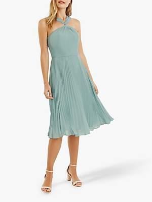 Oasis Twist Neck Midi Dress