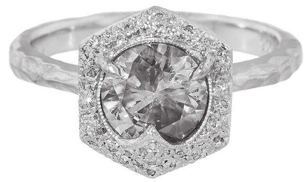 Cathy Waterman Black and White Diamond Ring - Platinum