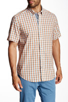 Nautica Classic Fit Plaid Slub Shirt