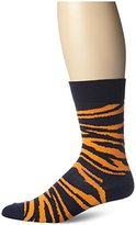 Happy Socks Men's 1Pk Combed Cotton Zebra Crew Sock