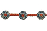 Frasier Sterling Concho Choker in Cognac