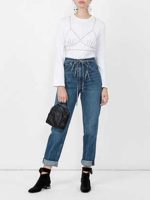 Proenza Schouler White Label Pswl Paperbag Jeans Blue