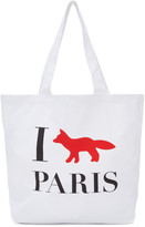 MAISON KITSUNÉ White i Fox Paris Tote