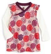 Tea Collection Nara Wrap Neck Dress (Baby Girls)