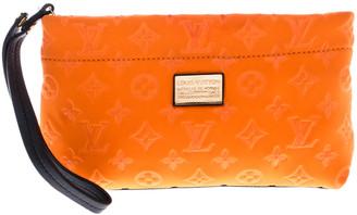 Louis Vuitton Orange Monogram Neoprene Limited Edition Scuba Clutch