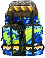 Prada printed backpack