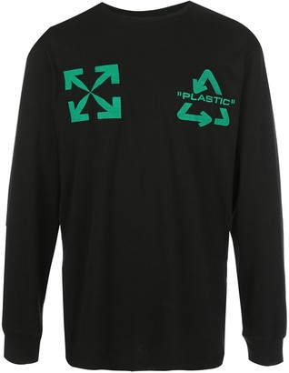 Off-White arrows print long-sleeve T-shirt