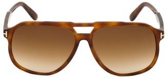 Tom Ford Raoul 62MM Tortoiseshell Aviator Sunglasses