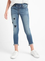Gap High stretch velvet patch skimmer jeggings