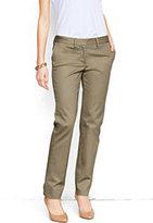 Classic Women's Pre-hemmed Not-Too-Low Rise Slim Chino Pants-Khaki