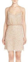 Adrianna Papell Women's Sequin Mesh Blouson Dress