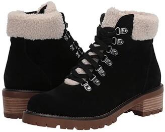 Blondo Melissa Waterproof Lace-Up Boot (Black Suede) Women's Shoes