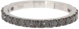 Effy 14K White Gold Pave Black Diamond Band Ring - Size 7 - 0.65 ctw