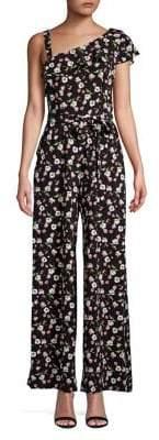 Gabby Skye Floral-Print Jumpsuit