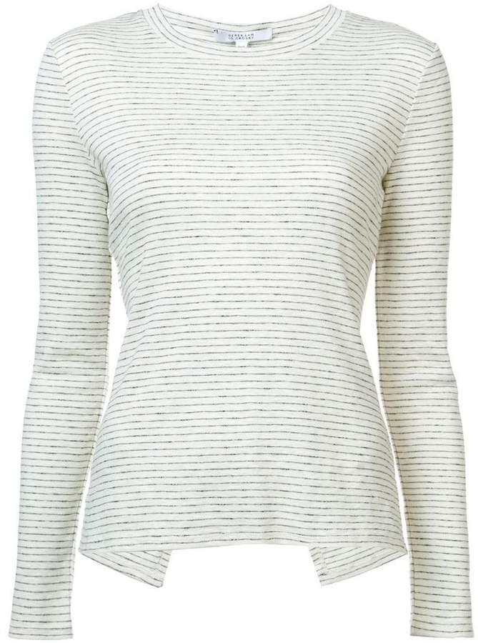 Derek Lam 10 Crosby Long Sleeve Tee Asymmetrical Back Detail