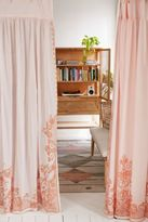 Urban Outfitters Pleated Printed Lace Curtain