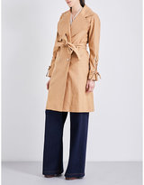 See by Chloe Oversized linen and cotton-blend trench coat