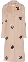 Christopher Kane Embellished virgin wool coat