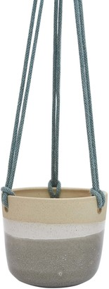 Libby Ballard - Ceramic Hanging Planter - Grey Design - ceramic | grey - Grey/Grey