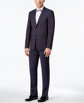 Calvin Klein Men's Extra Slim-Fit Wine Peak Lapel Suit