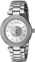 Versus By Versace Women's 'BRICK LANE' Quartz Stainless Steel Casual Watch, Color:Silver-Toned (Model: S64010016)