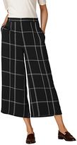 LK Bennett L.K.Bennett Dinah Check Wide Leg Trousers, Black/Cream