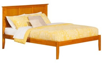 Atlantic Furniture Madison Twin Platform Bed with Open Foot Board in Espresso
