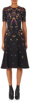 Givenchy Women's Pansy-Print Crepe Fit & Flare Dress