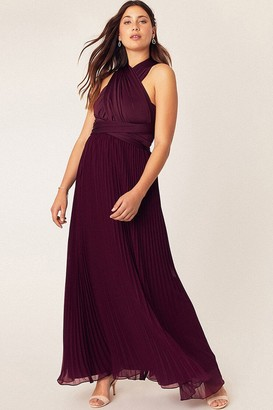 Oasis Wear It Your Way Burgundy Maxi Dress