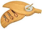 Picnic at Ascot Bamboo Leaf Cheese Board Set with 3 Tools & Bowl