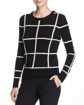 Theory Kaylenna Grid-Print Sweater - 100% Bloomingdale's Exclusive