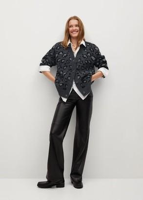 MANGO Leopard print cardigan
