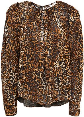 Ronny Kobo Leopard-print Devore-chiffon Blouse