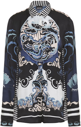 Just Cavalli Printed Satin Shirt