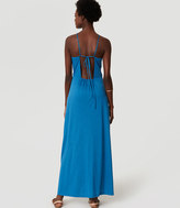 LOFT Beach Strappy Halter Maxi Dress