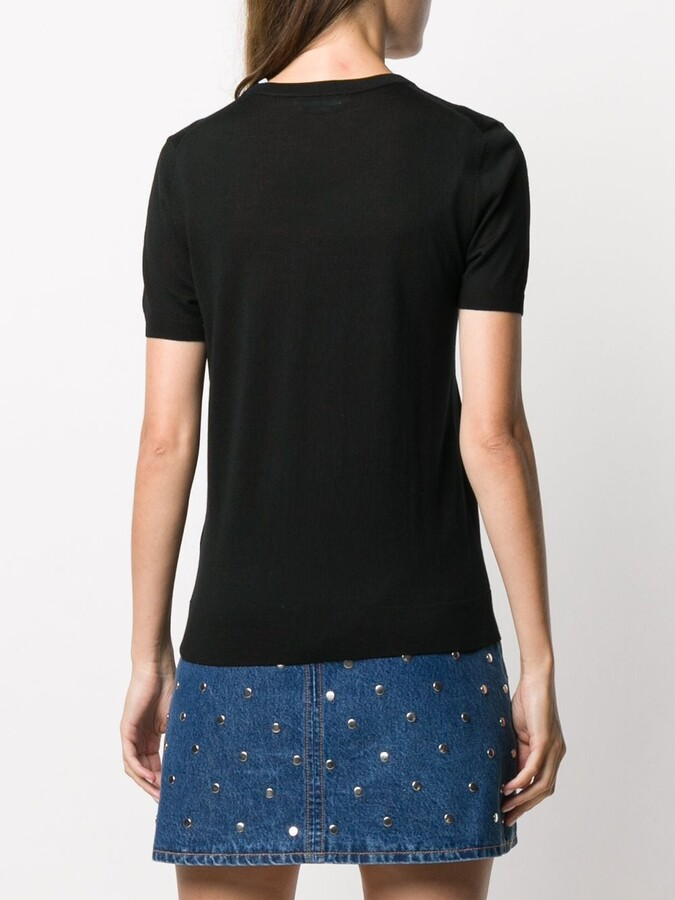 Thumbnail for your product : HUGO BOSS Fine Knit Shortsleeved Top