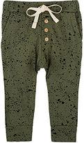 Little Indians Splatter-Print Stretch-Cotton Pants