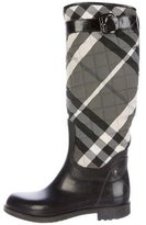 Burberry Quilted Beat Check Rain Boots