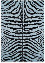 Fun Rugs Fun RugsTM Zebra Skin Rug in Blue/Black