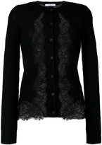 Givenchy lace panel cardigan - women - Cotton/Polyamide/Viscose/Wool - XS