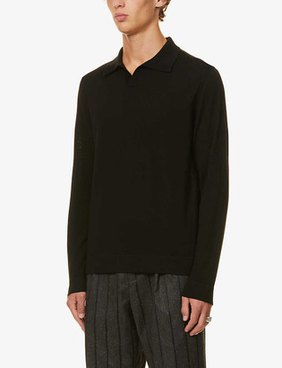 7 For All Mankind Merino wool polo jumper