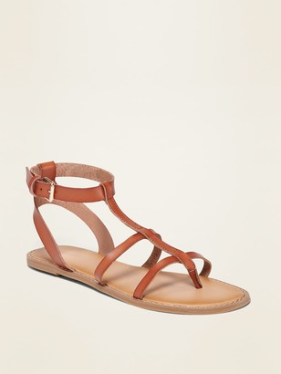 Old Navy Strappy Faux-Leather Gladiator Sandals for Women