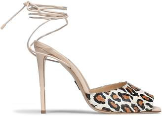Paul Andrew Look At Me Leopard-print Snakeskin Sandals