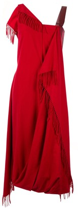 Irene Fringe Scarf Dress