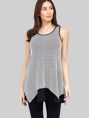 M&Co Izabel sleeveless layered hem top