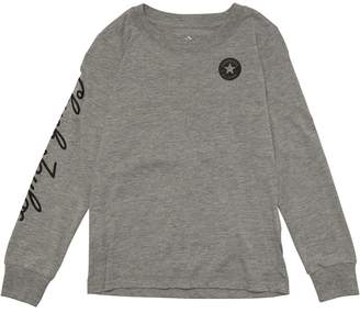 Converse Boys Chuck Taylor Script Long Sleeve T-Shirt Dark Grey Heather