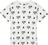A Bathing Ape Logo print cotton T-shirt 4-8 years