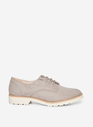 Dorothy Perkins Womens Wide Fit Grey 'Lush' Flat Brogues, Grey