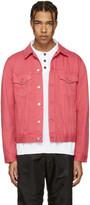 Acne Studios Pink Beat Denim Jacket