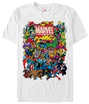 Marvel Men's Comic Collection The Entire Men's Cast Short Sleeve T-Shirt